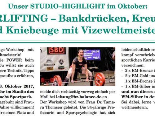 """""""Training lernen von den Spitzensportlern"""" – Kraftdreikampf in der Praxis bei Eintracht Hildesheim"""