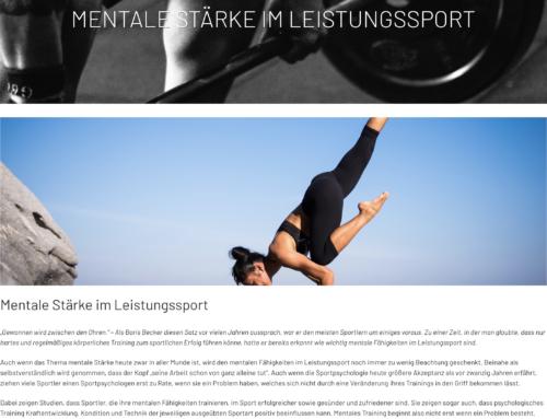 Magazinbeitrag bei Underdog-Nutrition: Mentale Stärke im Leistungssport