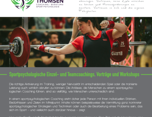 Proudly present: Mein neuer Sportpsychologie-Flyer ist fertig!